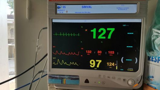 Estado cardíaco no momento da nossa visita